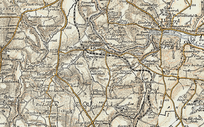 Old map of Allt-y-rheiny in 1901