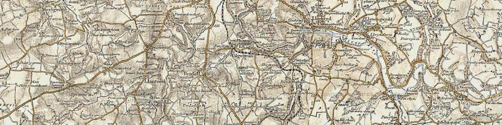 Old map of Allt-y-rheiny in 1901