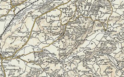 Old map of Cilgwyn in 1900-1901