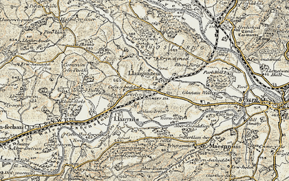 Old map of Cilmery in 1900-1902