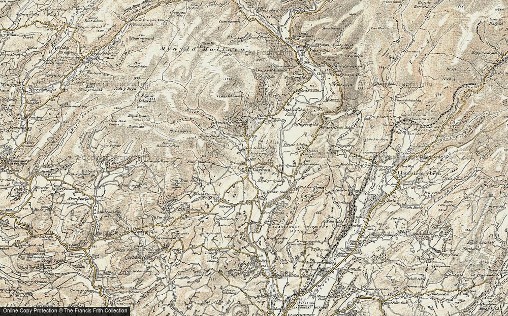 Cilycwm, 1900-1902