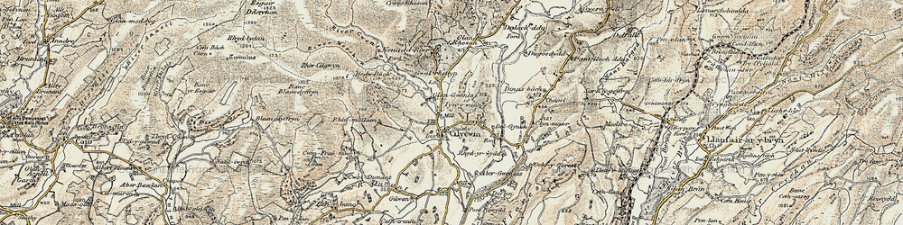Old map of Abergwenlais in 1900-1902