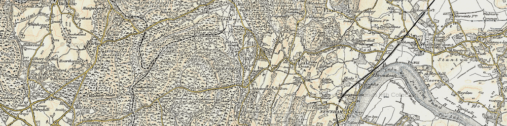 Old map of Cinderford in 1899-1900