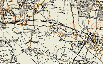 Old map of Cippenham in 1897-1909