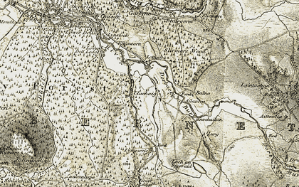 Old map of Ailanbeg in 1908-1911