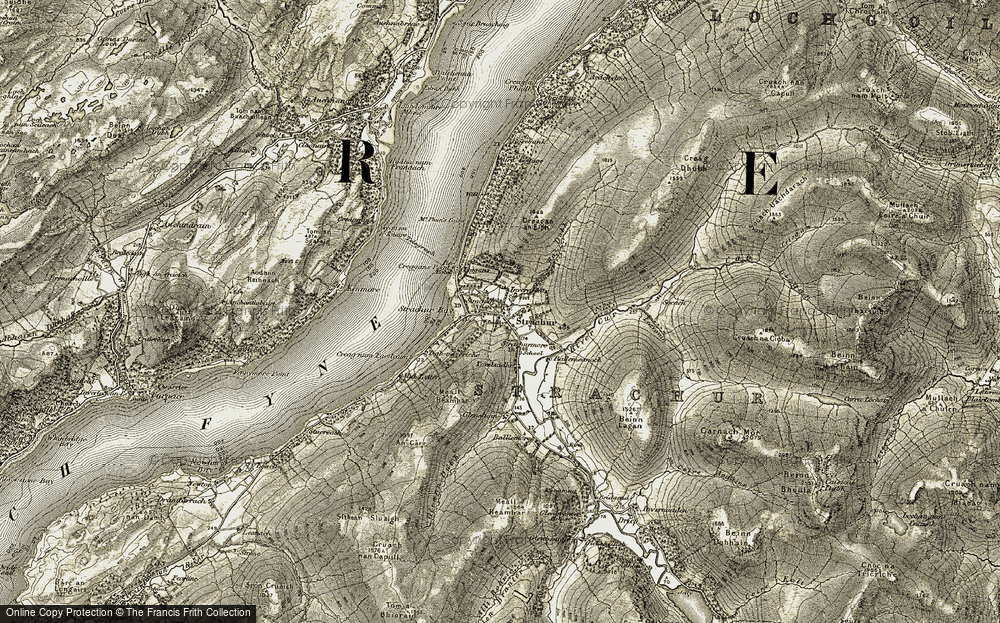 Old Map of Historic Map covering Leavanin in 1906-1907