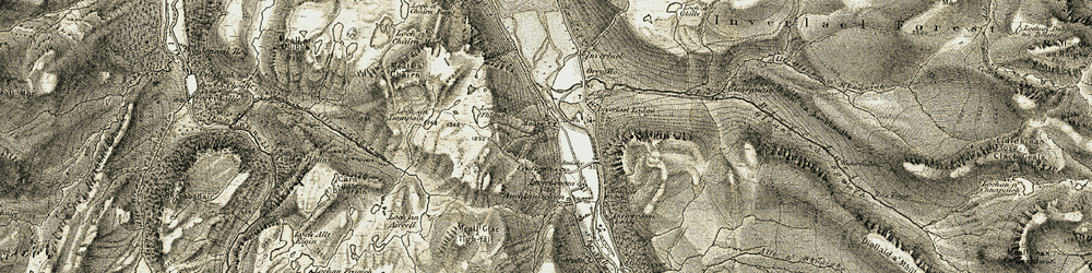 Old map of Allt a' Chairn in 1908-1912
