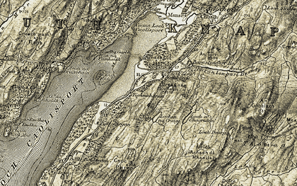 Old map of Tighnahoran in 1905-1907