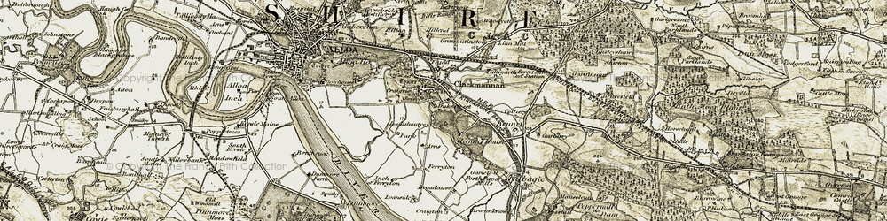 Old map of Clackmannan in 1904-1906
