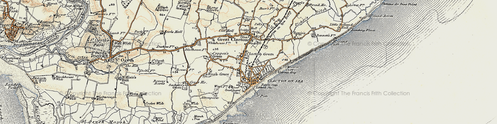 Old map of Clacton-On-Sea in 0-1899