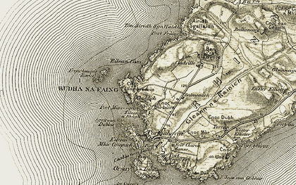 Old map of Airigh Sgallaidh in 1906