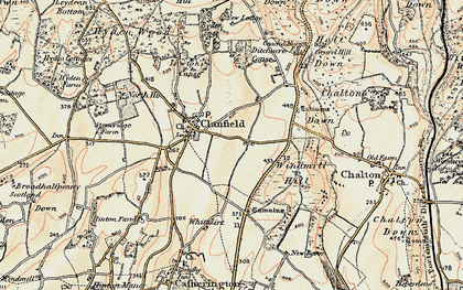 Old map of Clanfield in 1897-1900