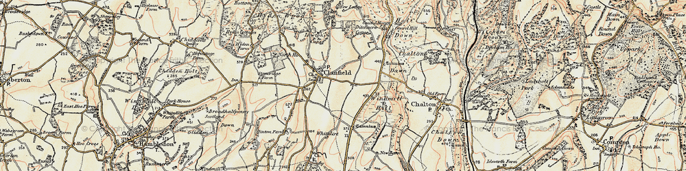 Old map of Windmill Hill in 1897-1900