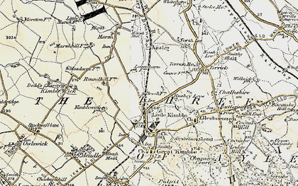Old map of Clanking in 1898