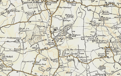 Old map of Clapgate in 1898-1899