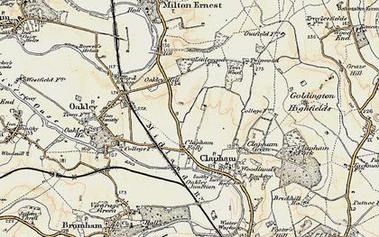 Old map of Clapham in 1898-1901