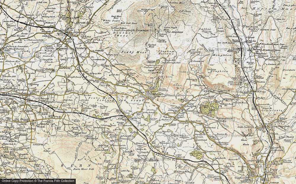 Old Map of Historic Map covering Thwaite in 1903-1904