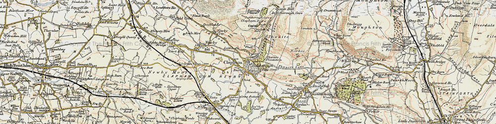 Old map of Thwaite in 1903-1904
