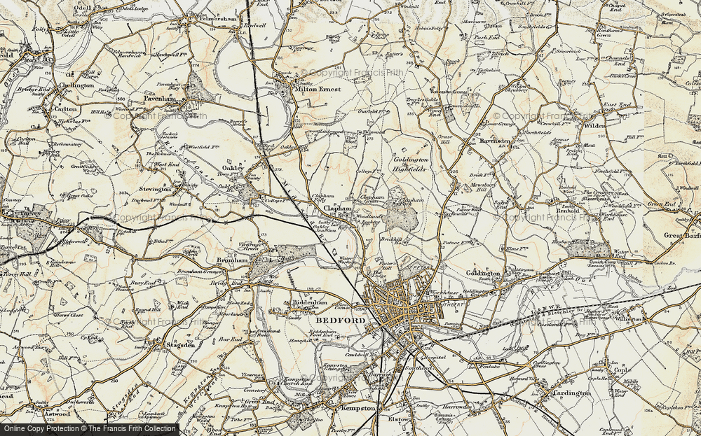 Old Map of Historic Map covering Woodlands Park in 1898-1901