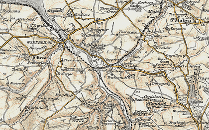 Old map of Clapper in 1900