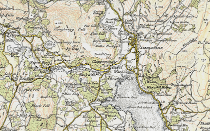 Old map of Todd Crag in 1903-1904