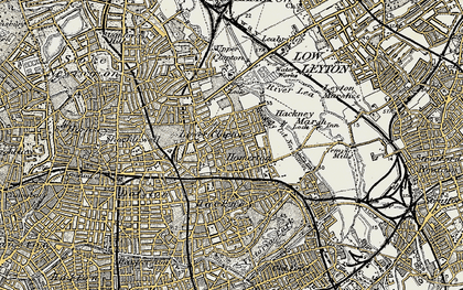 Old map of Clapton Park in 1897-1902