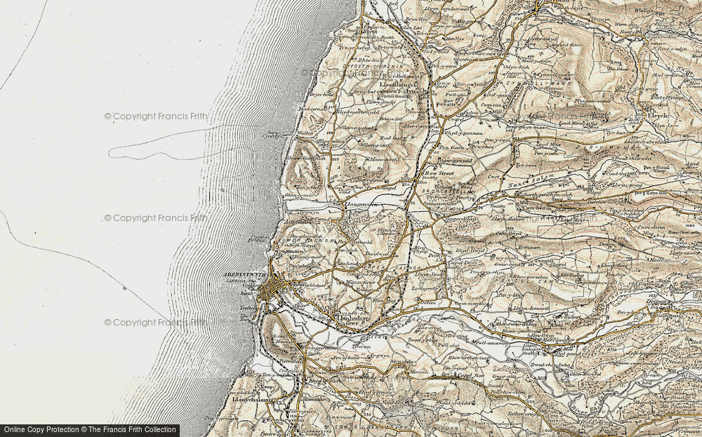 Old Map of Historic Map covering Allt-glais in 1901-1903
