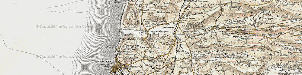 Old map of Clarach in 1901-1903