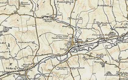 Old map of Clare in 1898-1901