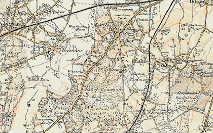 Old map of Claremont Park in 1897-1909