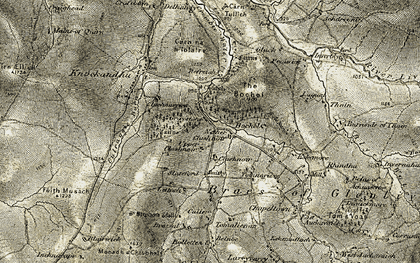 Old map of Achdregnie in 1908-1911