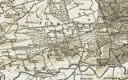 Old map of Lawrencefield in 1906-1908