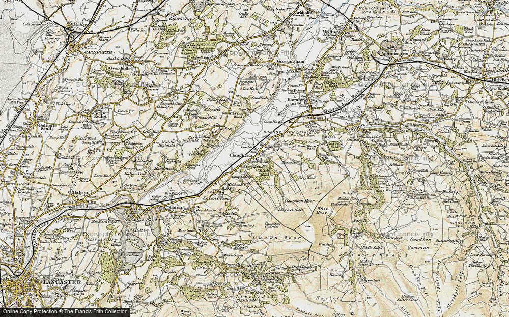Old Map of Historic Map covering Whit Moor in 1903-1904