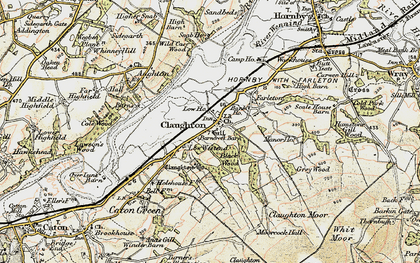 Old map of Whit Moor in 1903-1904