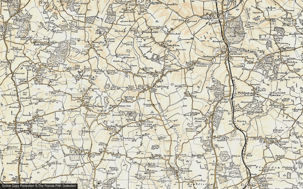 Old Map of Clavering, 1898-1899 in 1898-1899