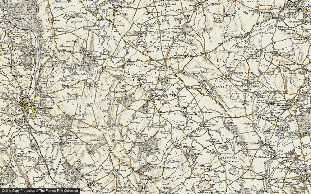 Old Map of Claverley, 1902 in 1902