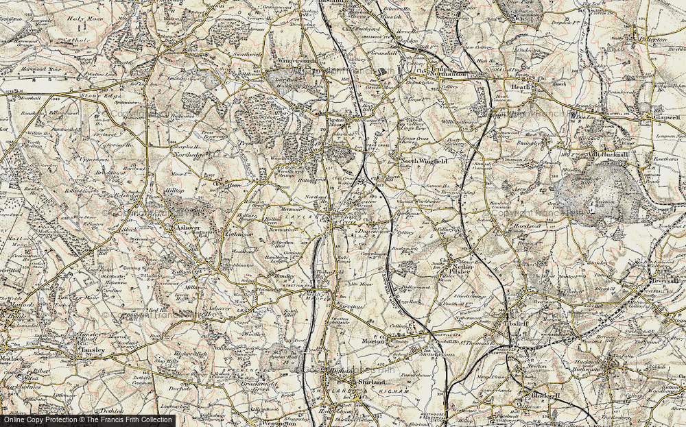 Old Map of Clay Cross, 1902-1903 in 1902-1903