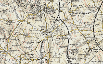 Old map of Clay Cross in 1902-1903