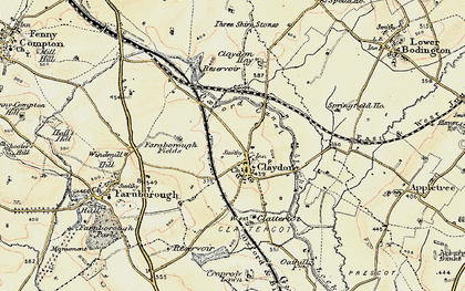Old map of Wormleighton Resr in 1898-1901