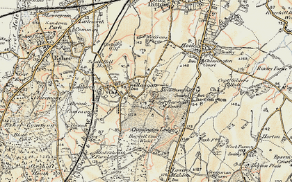 Old map of Claygate in 1897-1909