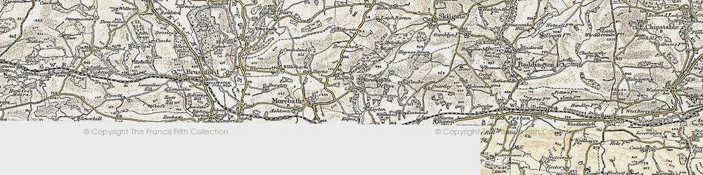Old map of Timewell in 1898-1900