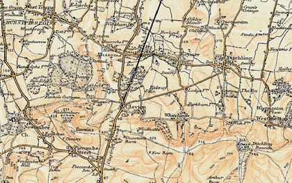 Old map of Clayton in 1898