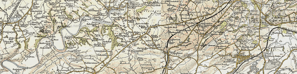 Old map of White Holme in 1903