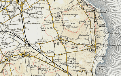 Old map of Cleadon in 1901-1904