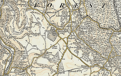 Old map of Clearwell in 1899-1900