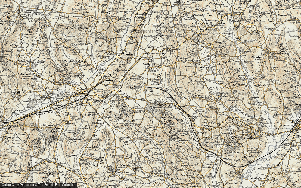 Old Map of Historic Map covering Wylmington Hayes in 1898-1900