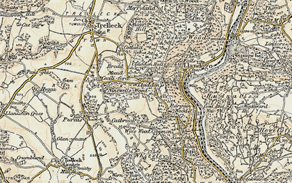 Old map of Bargain Wood in 1899-1900