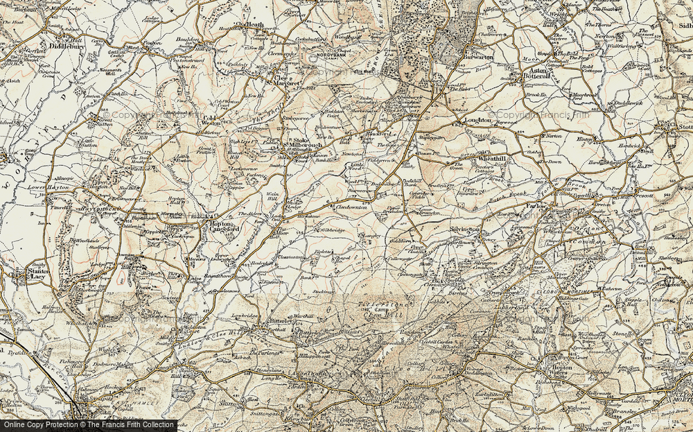 Old Map of Historic Map covering Langley in 1901-1902