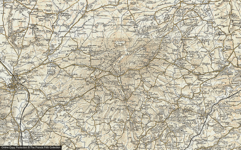 Old Map of Historic Map covering Titrail in 1901-1902