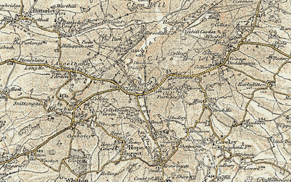 Old map of Titrail in 1901-1902